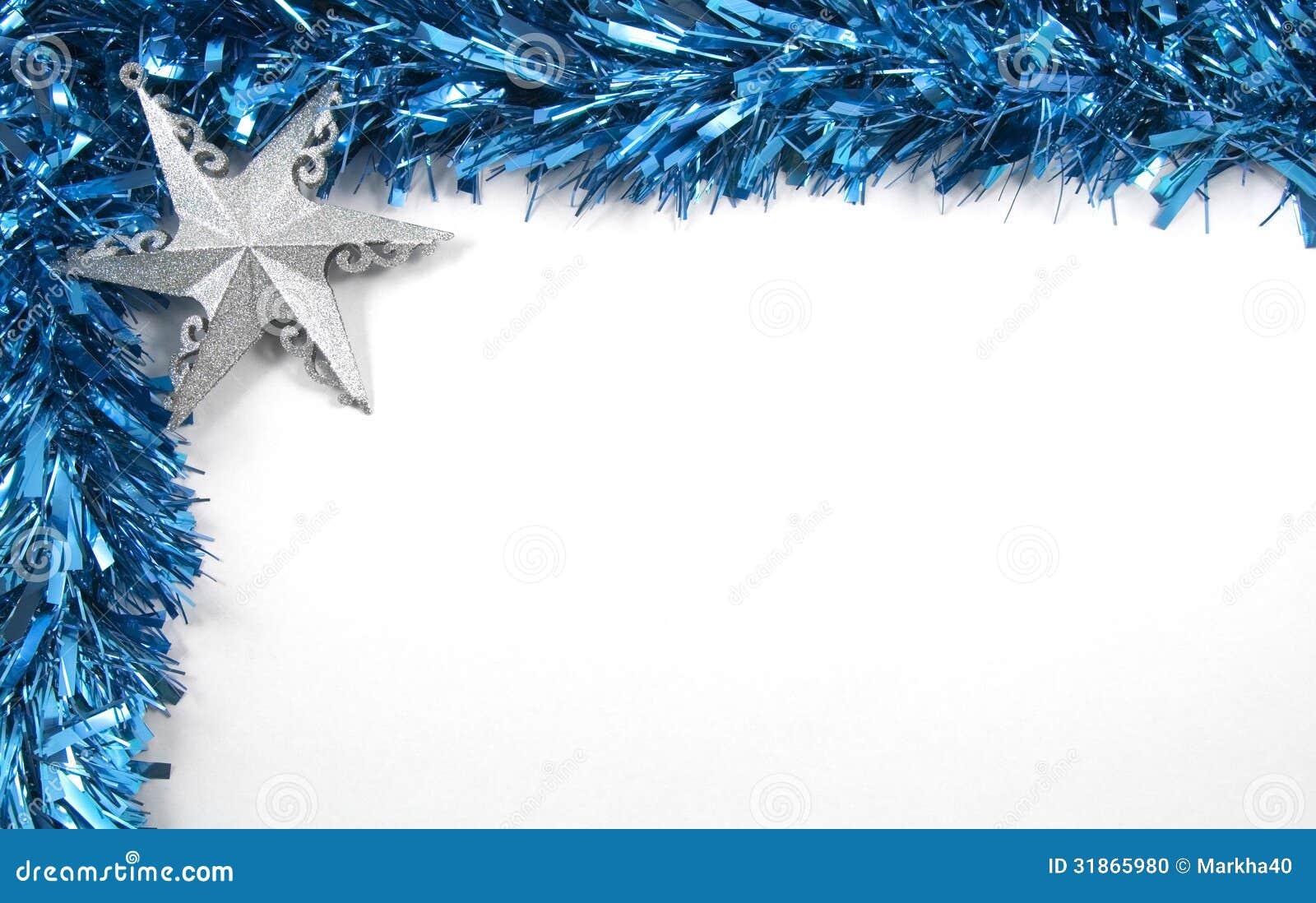 Decoraciones Azules De La Navidad Malla Y
