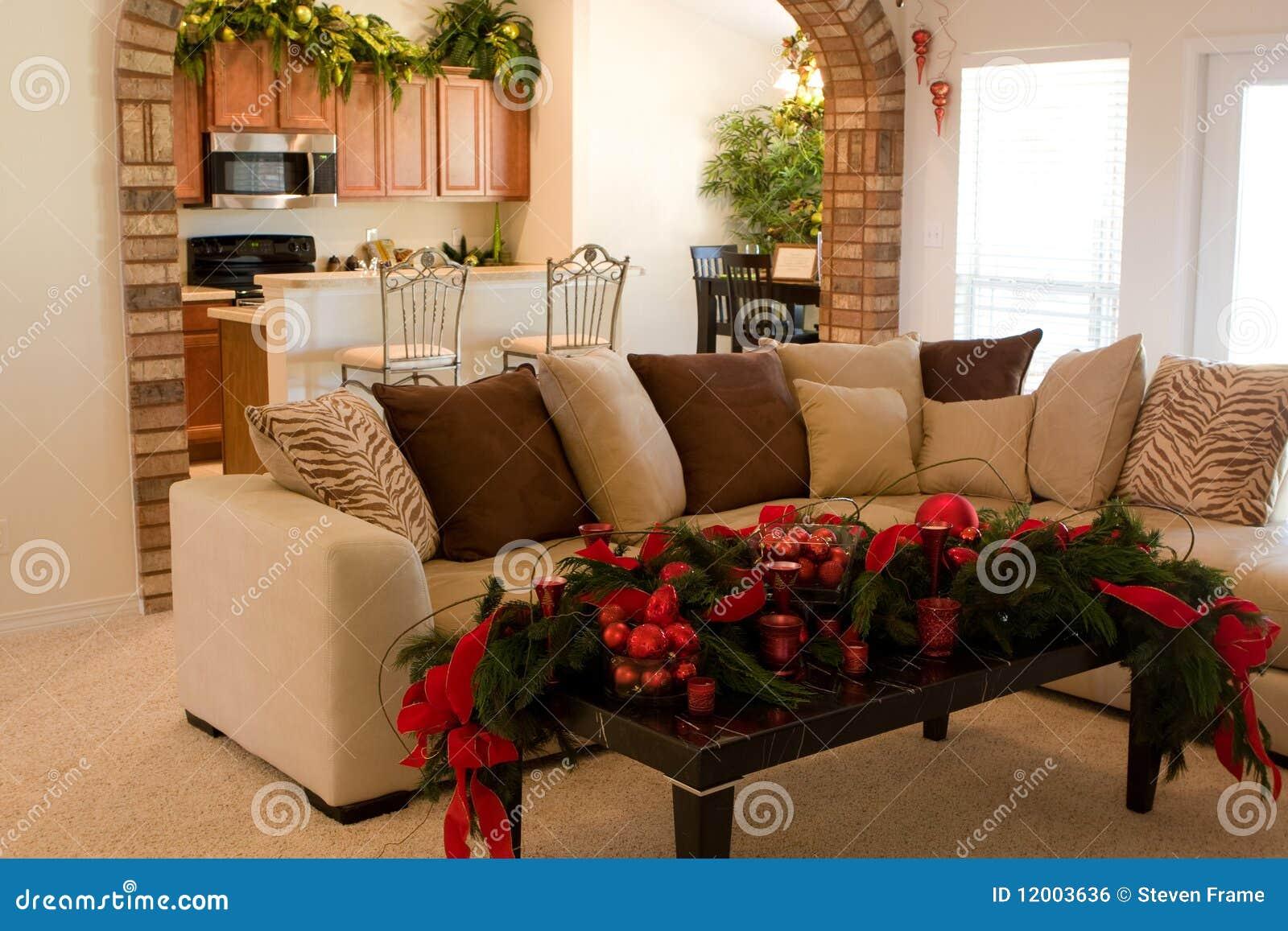 Decoraciones caseras de la navidad imagen de archivo libre for Decoraciones para navidad interiores