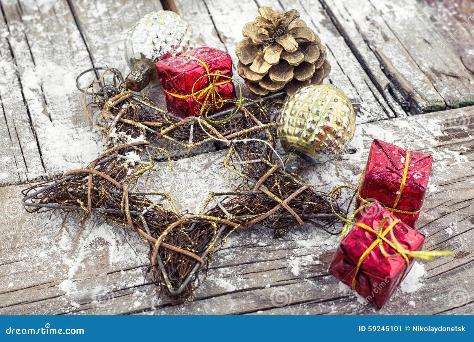 Decoraciones de la Navidad