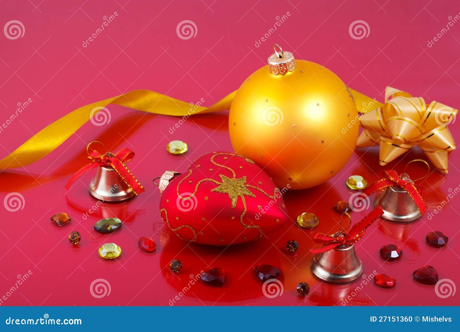Decoraciones De La Navidad Con Las Piedras Preciosas Foto de archivo