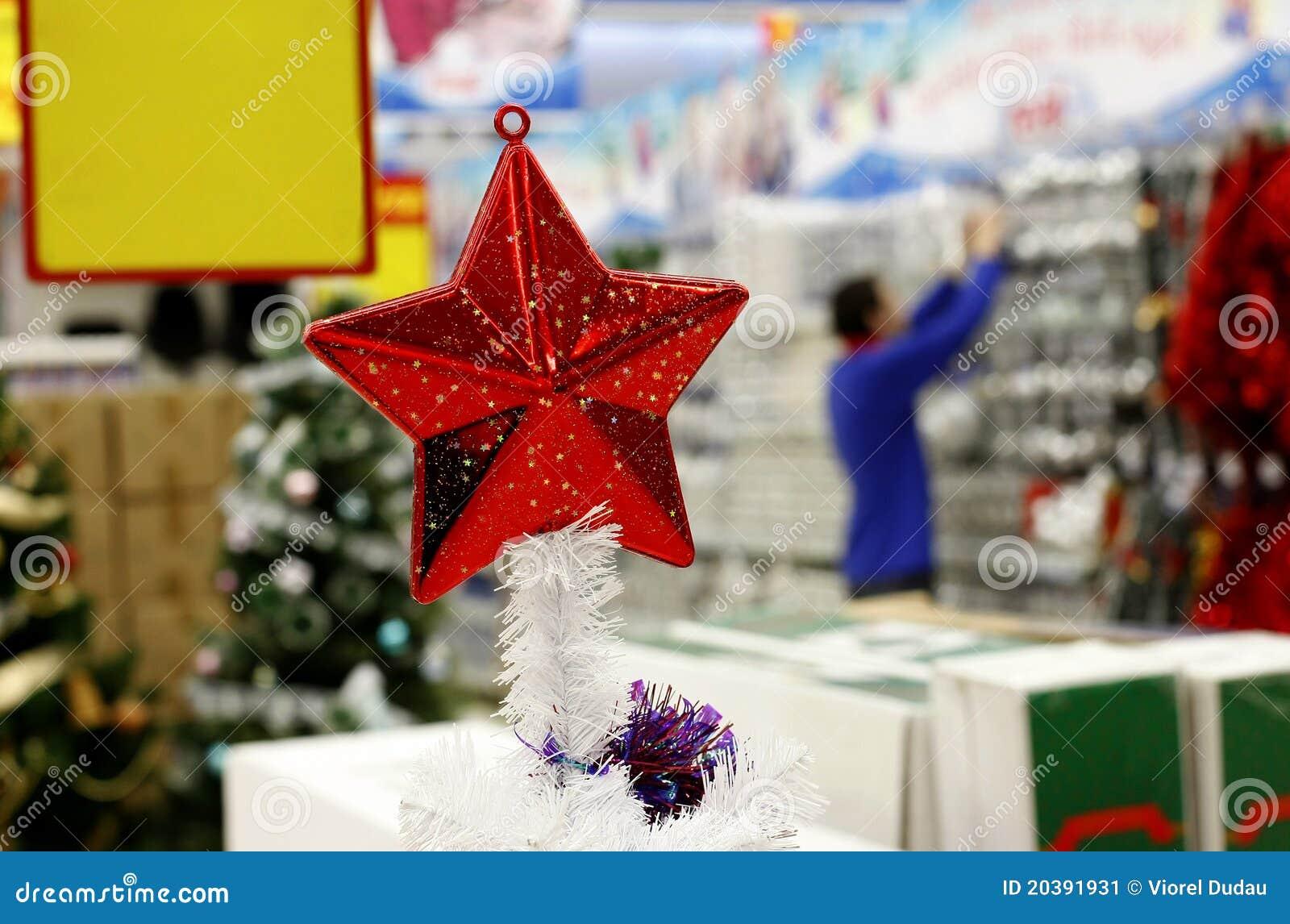 Decoraciones de la navidad en supermercado imagen de for Decoracion de supermercados