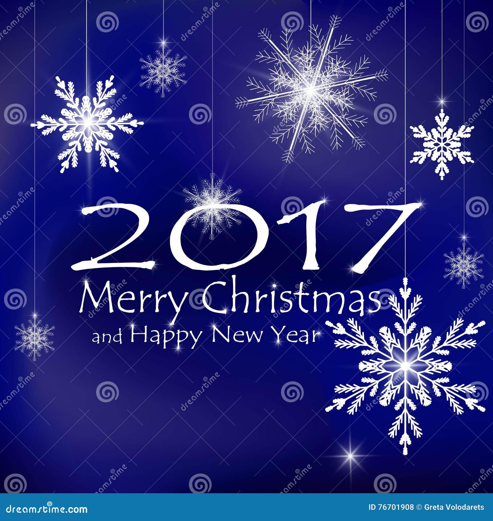 Decoraciones de la tarjeta de la Feliz Navidad y de la Feliz Año Nuevo Fondos azul marino
