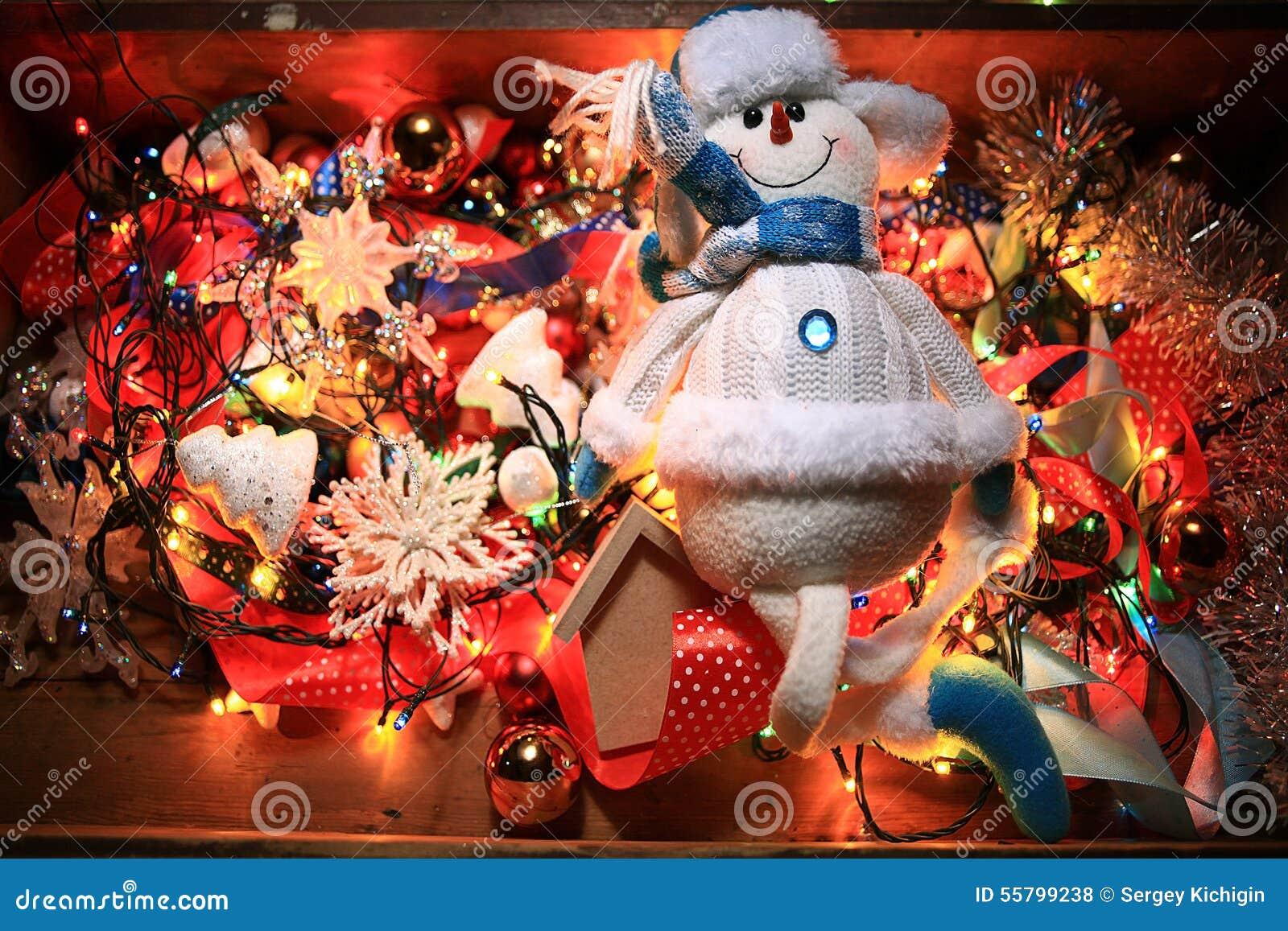 Decoraciones hechas en casa de la navidad foto de archivo - Decoracion hecha en casa ...