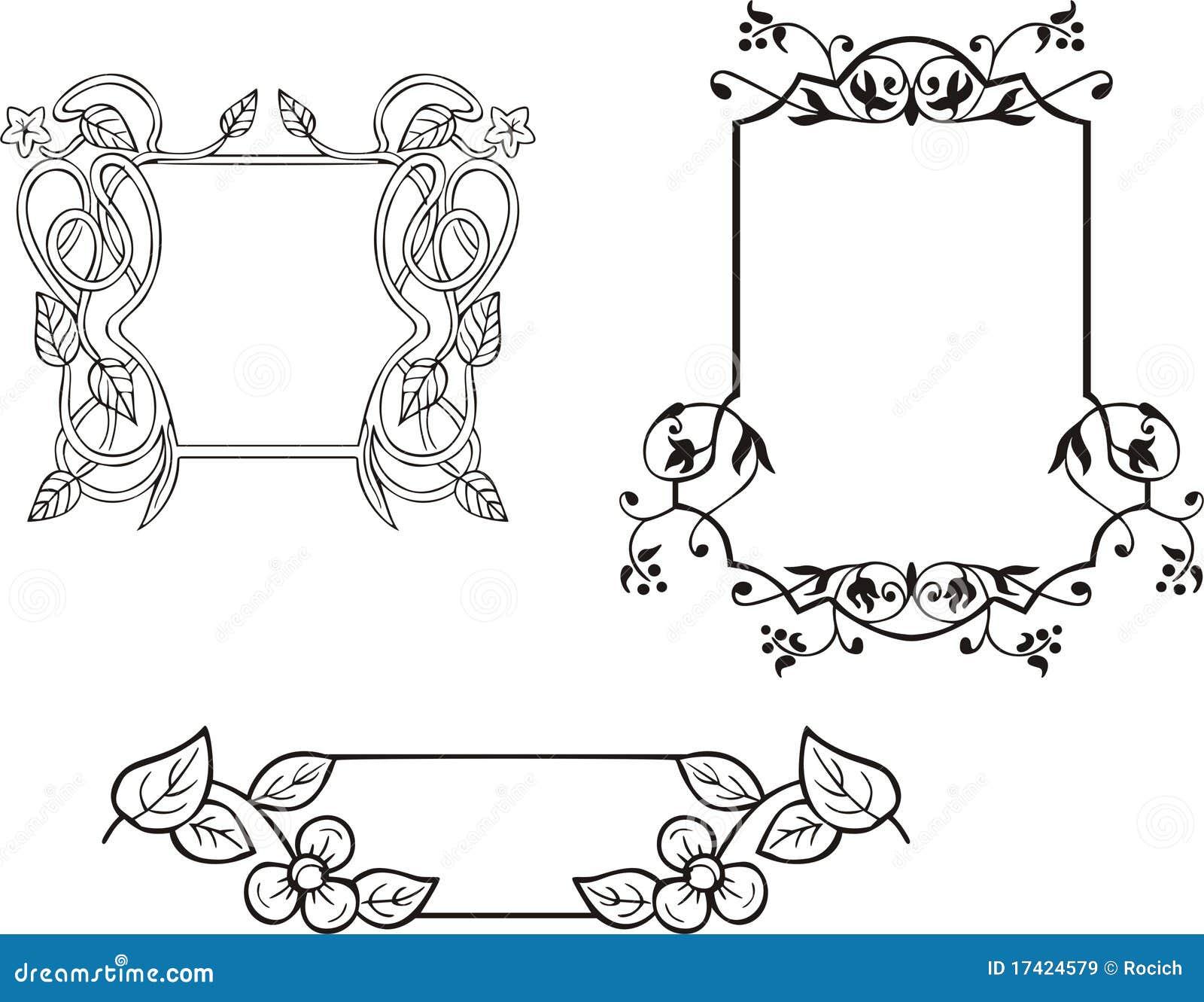 Decoraciones Ornamentales Florales Del Marco Ilustración Del
