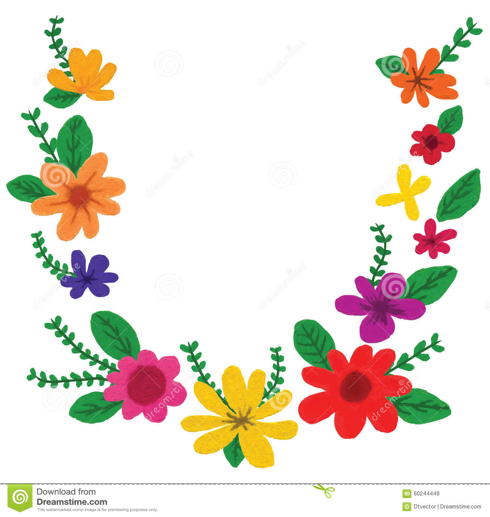 Elegante Desenho De Flor Colorida Melhores Casas De Todas As