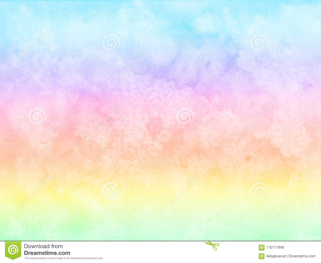 Abstract Rainbow Pastel Watercolor Background. Stock ...