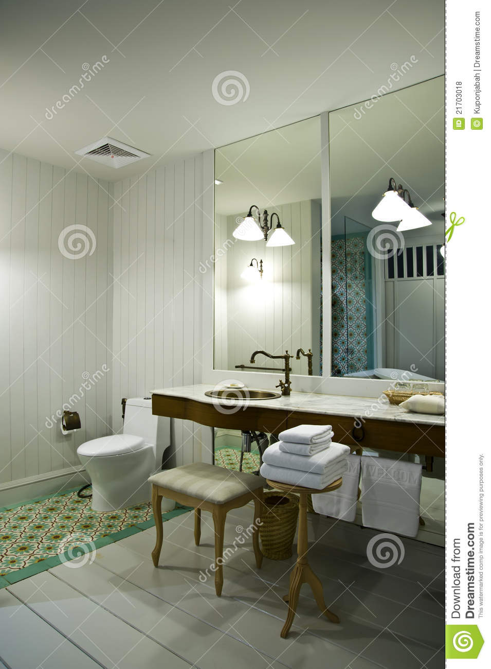 Decorated In Bathroom Royalty Free Stock Photos Image 21703018