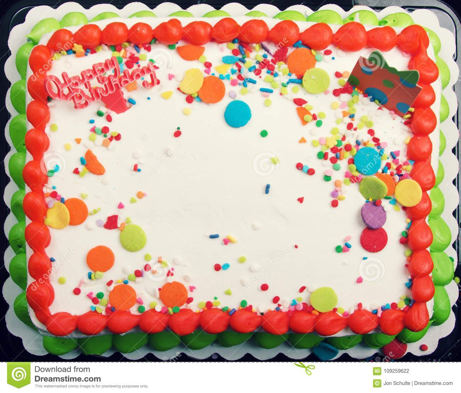 Decorated Cake Icing Background