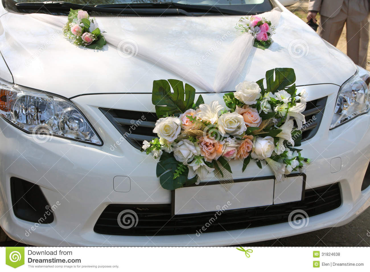 Decorated Cars For Wedding Day Stock Photo Image Of Motor Groom