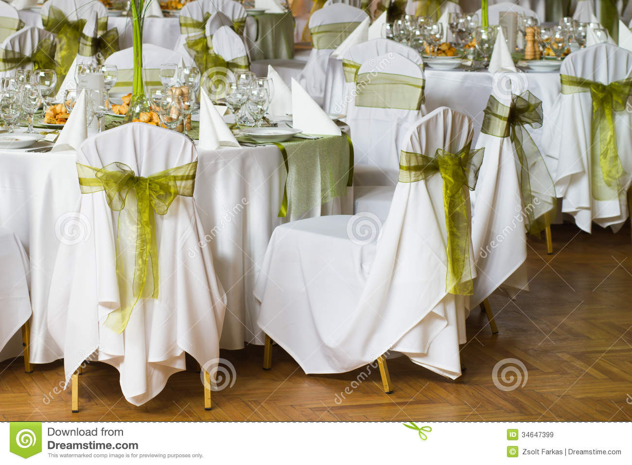 Decorated Chairs Stock Image Image Of Fancy Napkin
