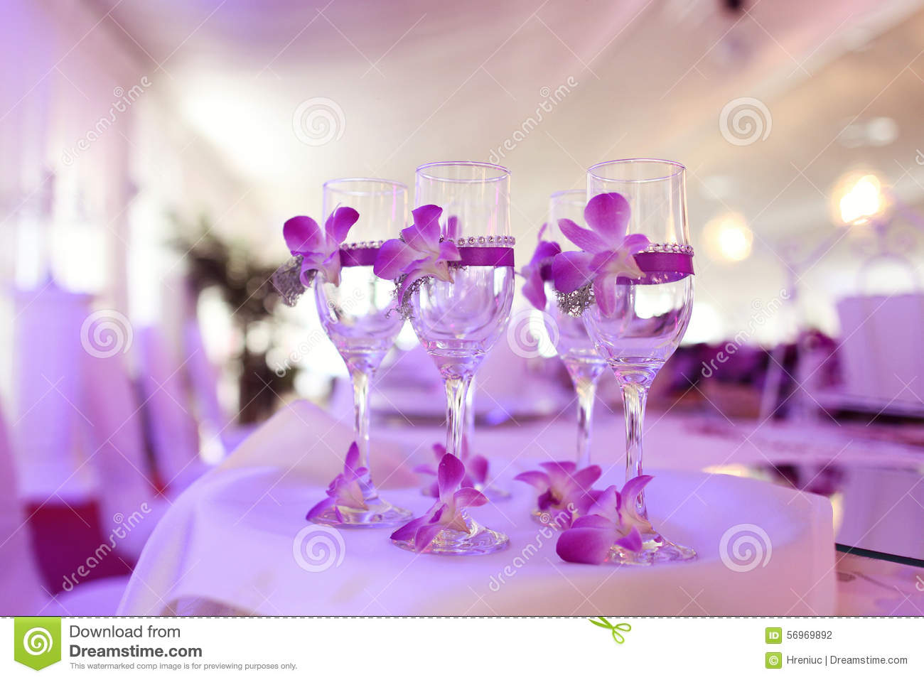 decorate champagne glasses. Royalty Free Stock Photo  Download Decorated Champagne Glasses Image 56969892