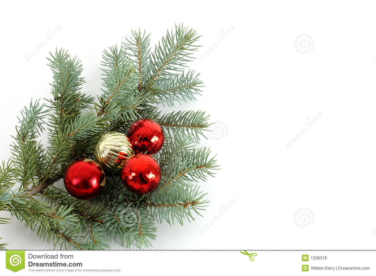Decorated Christmas Bough #2 Royalty Free Stock Photos - Image ...