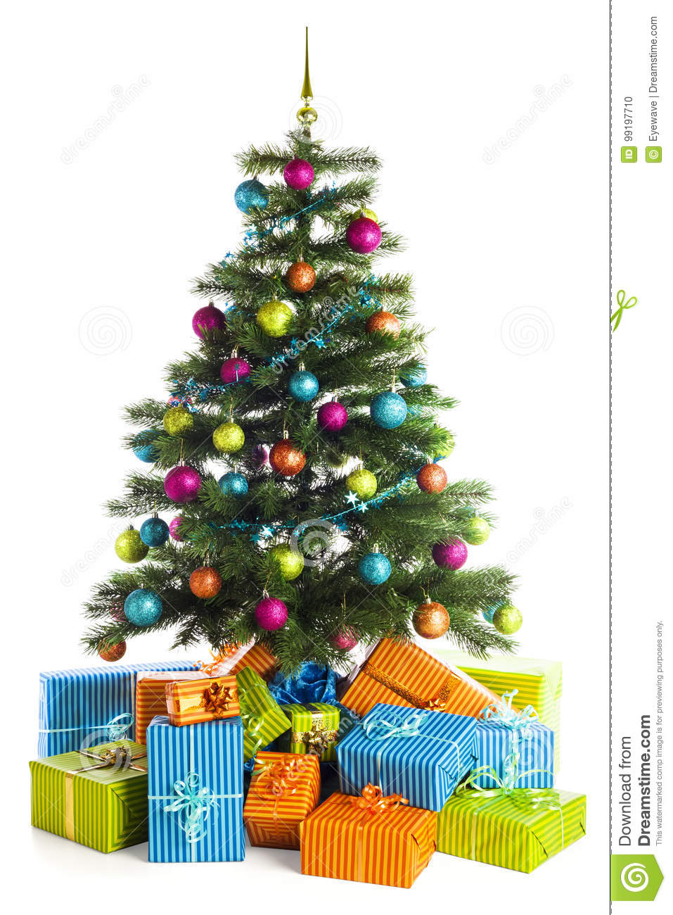 decorated christmas tree and gift boxes - Decorative Christmas Boxes