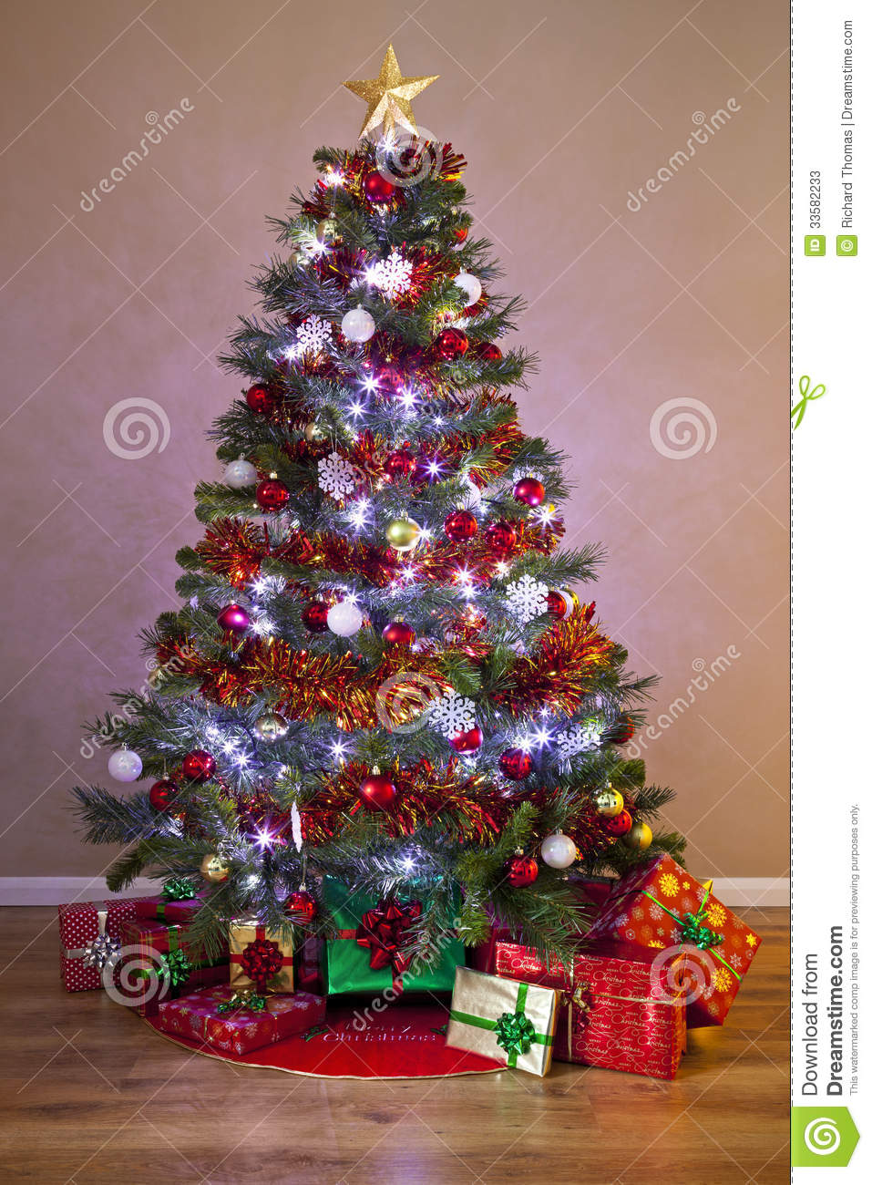 royalty free stock photo download decorated christmas tree with - Christmas Trees With Lights