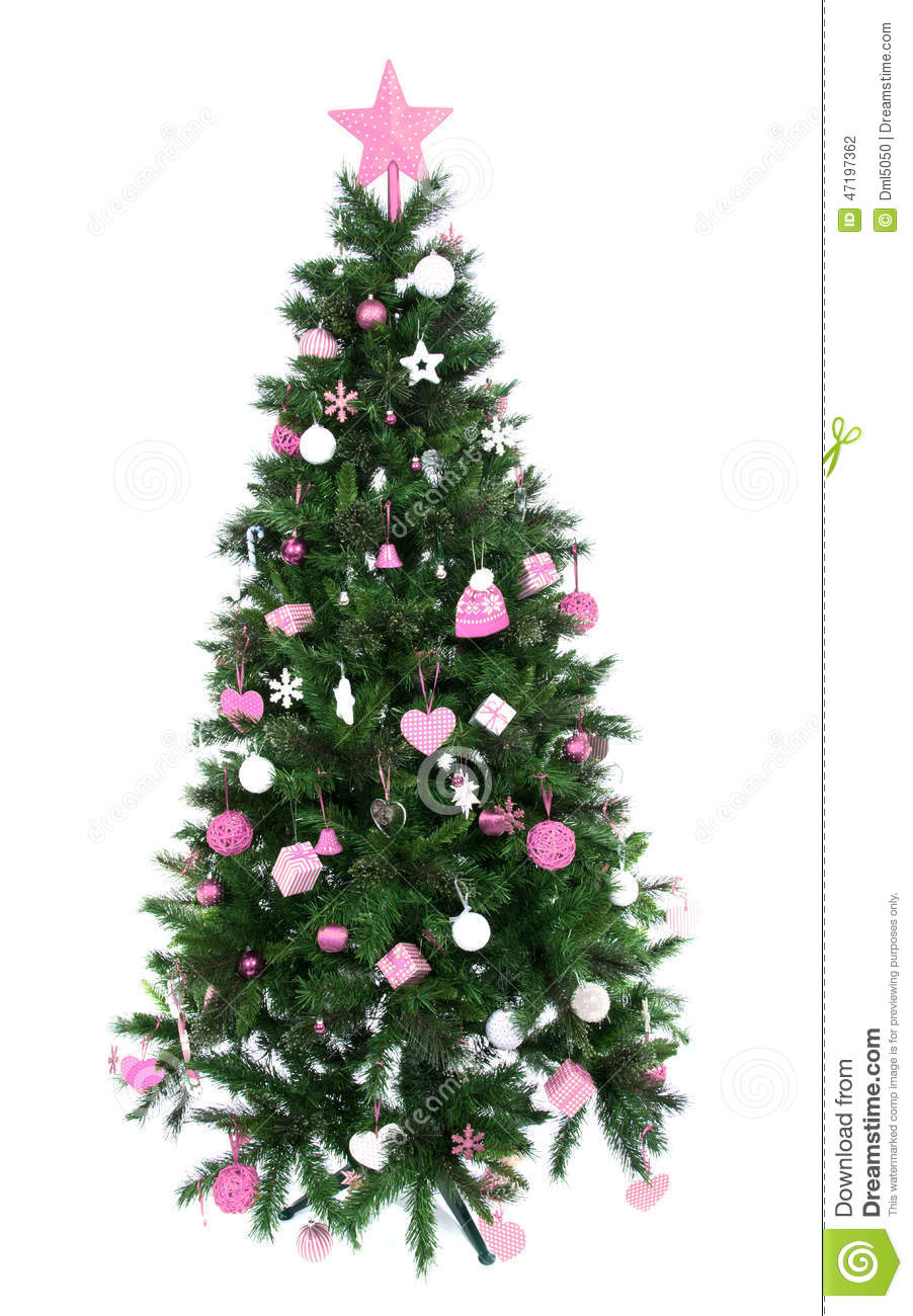 Christmas trees decorated pink - Background Christmas Decorated Hat Isolated New Ornament Patchwork Pink Star Tree