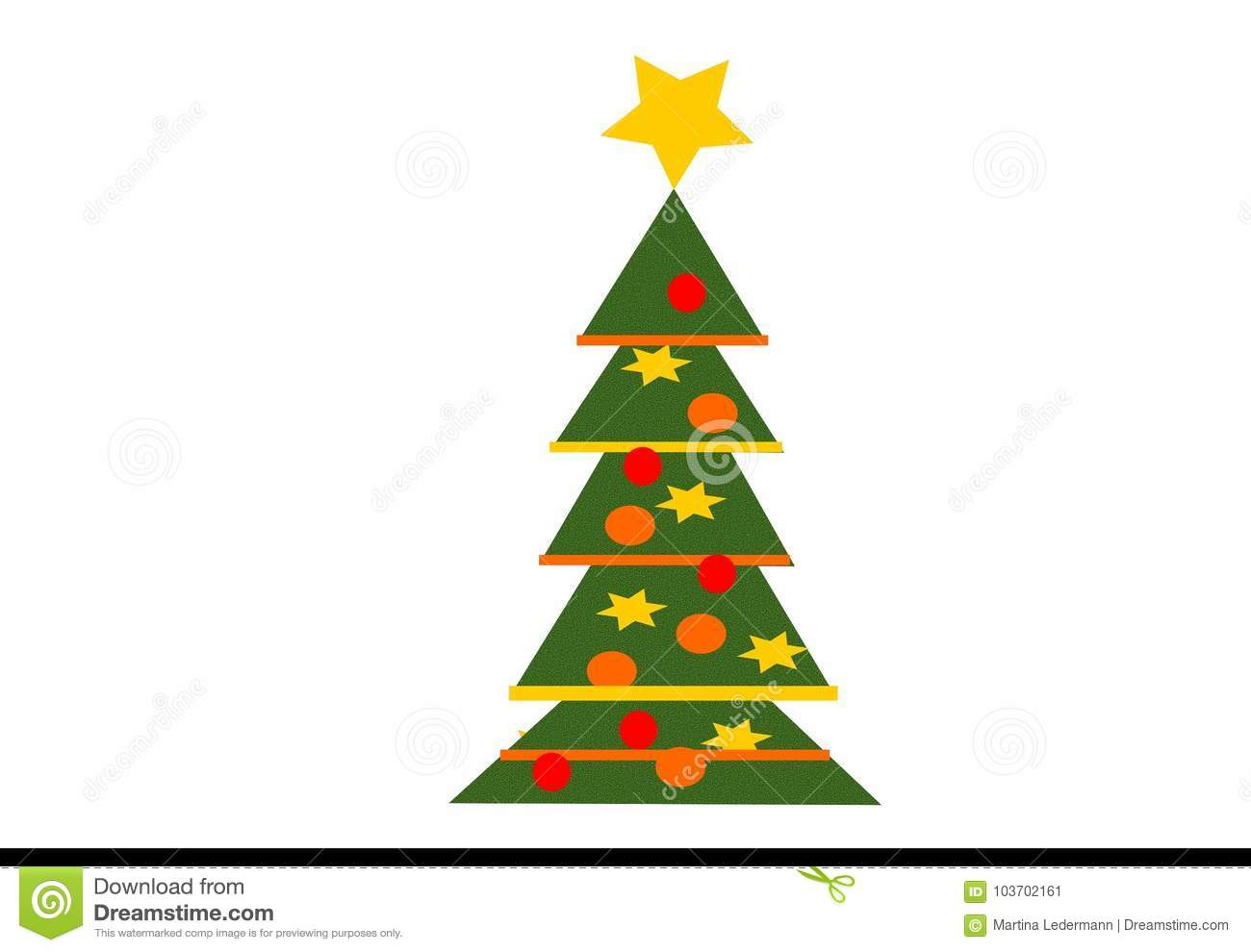 a decorated christmas tree with a golden star