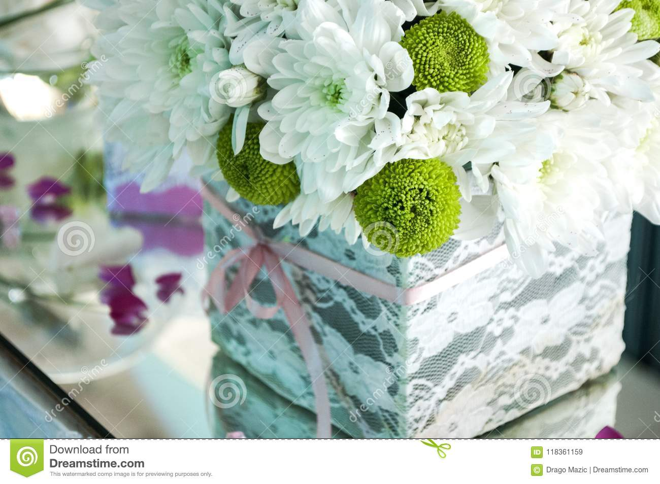 Decorated Flower Bouquet Stock Image Image Of Fancy 118361159