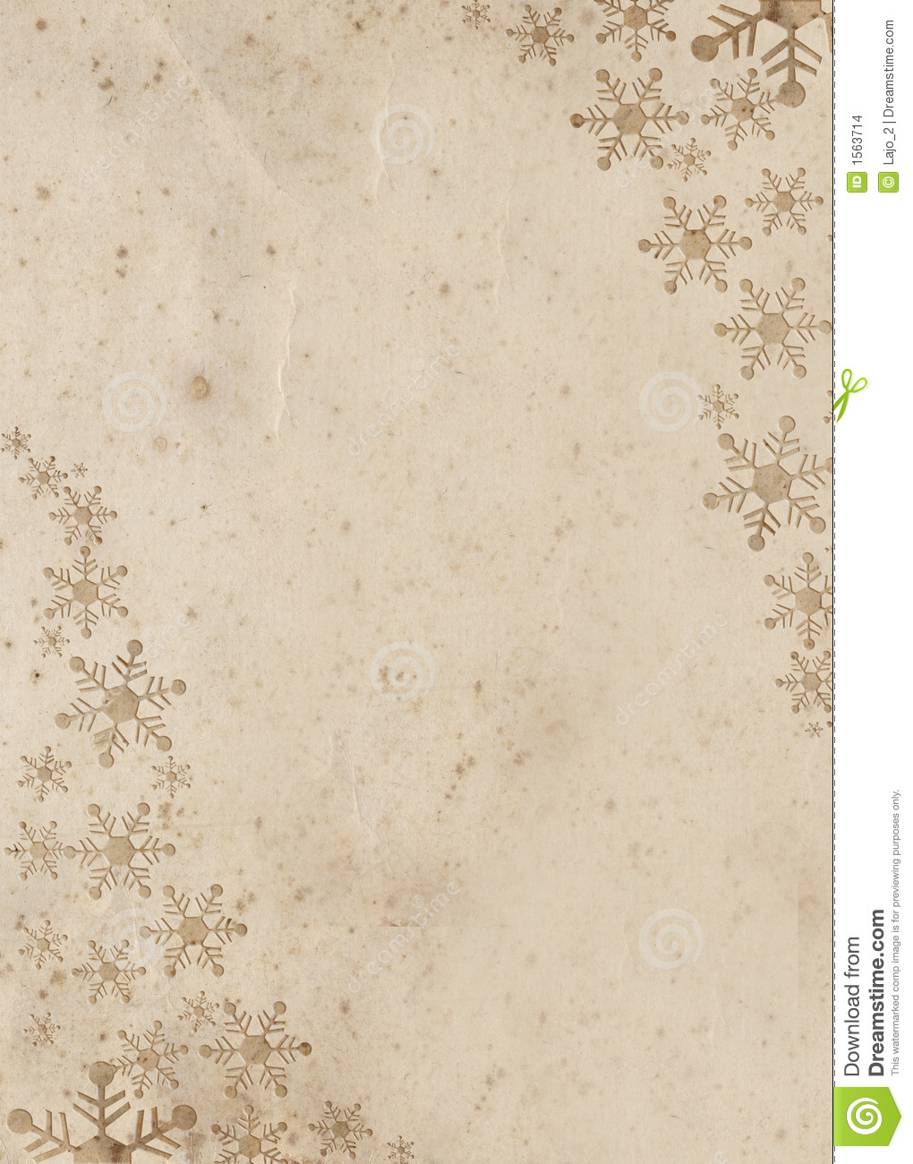 Decorated Grunge Paper For Christmas Card Stock Illustration ...