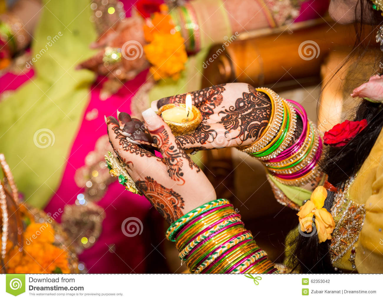 Mehndi Ceremony Clipart : Mehandi design in indian hand royalty free stock image