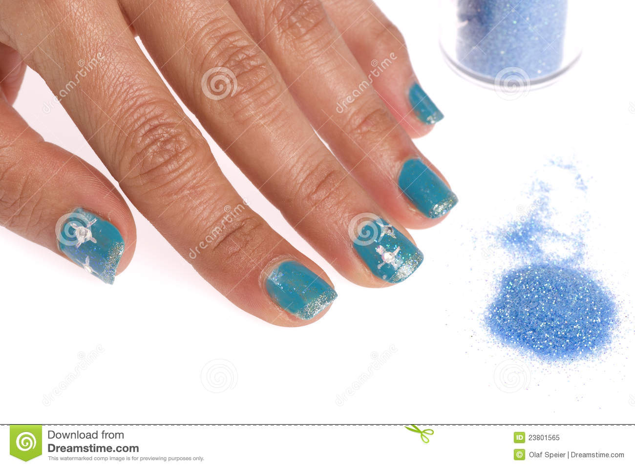 Decorated nails stock image. Image of shiny, care, nails ...
