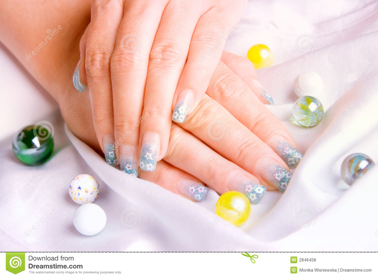 Decorated Nails Royalty Free Stock Photos