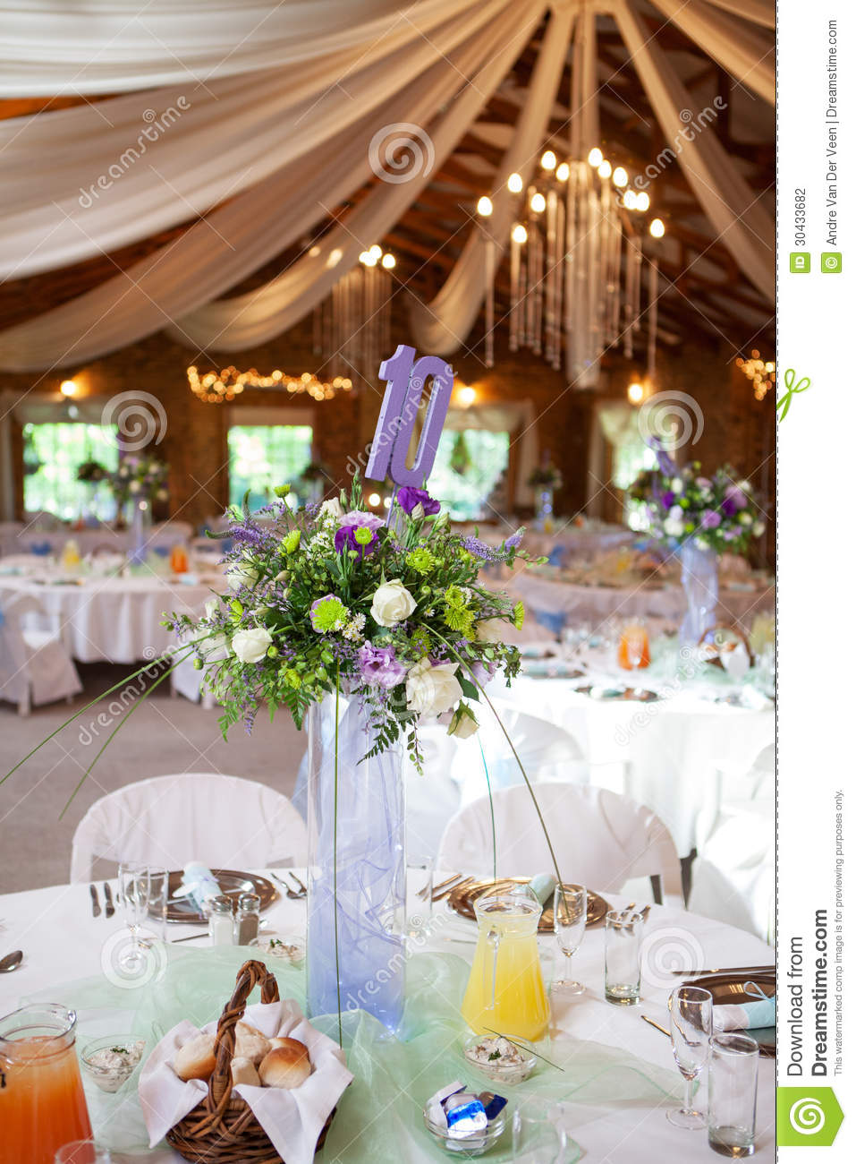 Decorated Tables Decorated Tables With Candelabra At Wedding Reception Selective