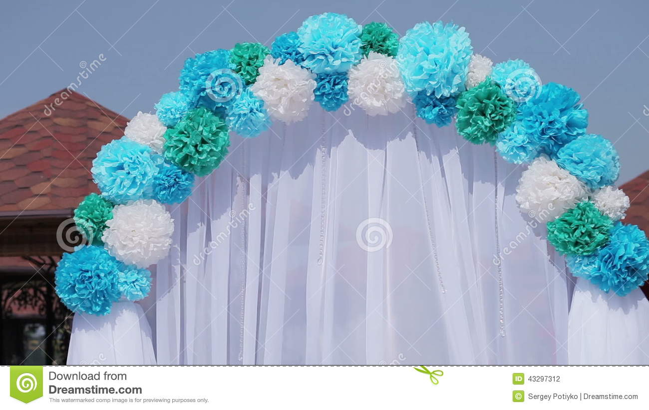 decorated wedding arch stock video