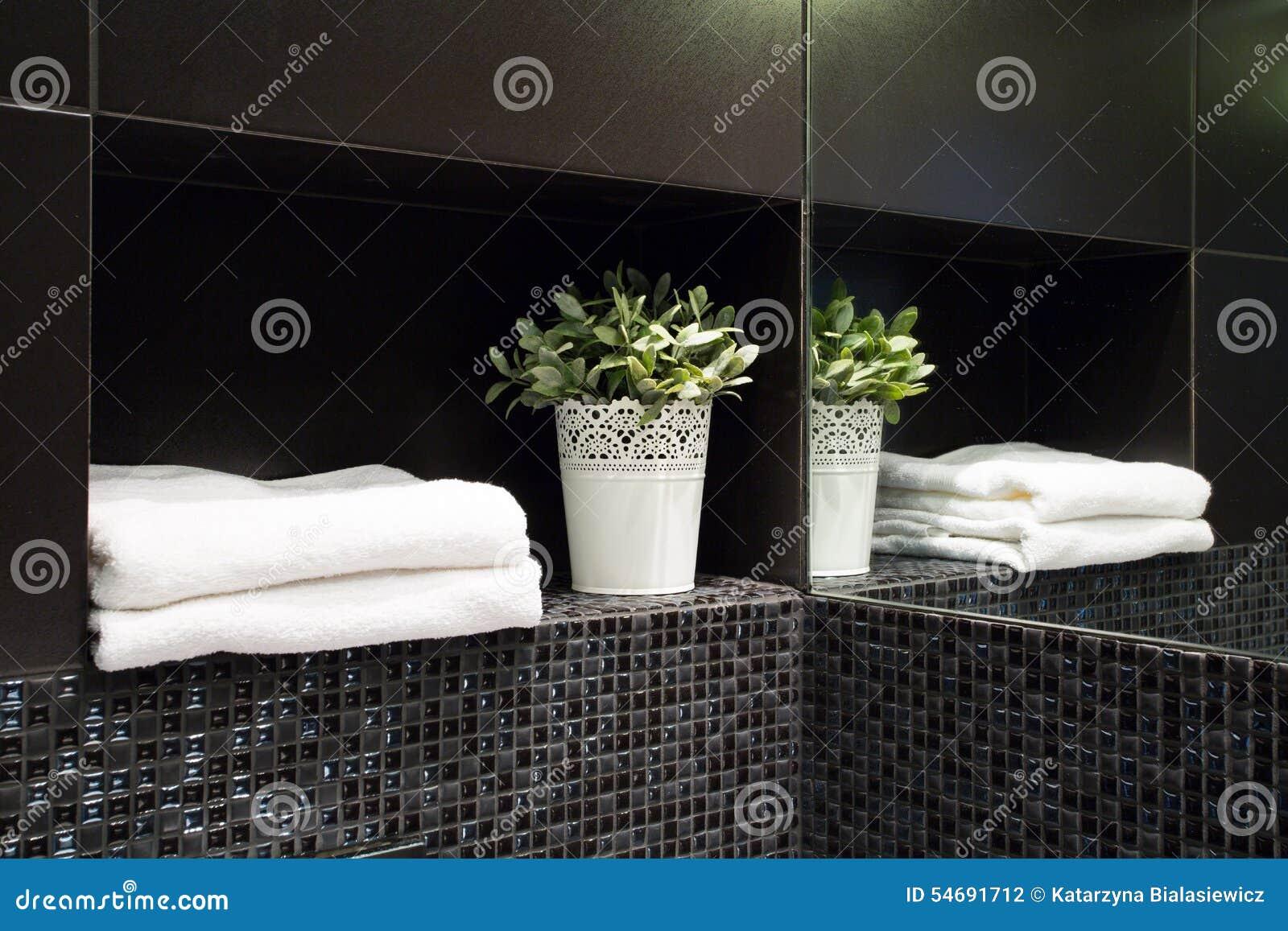 Decoratie in moderne badkamers stock foto afbeelding bestaande
