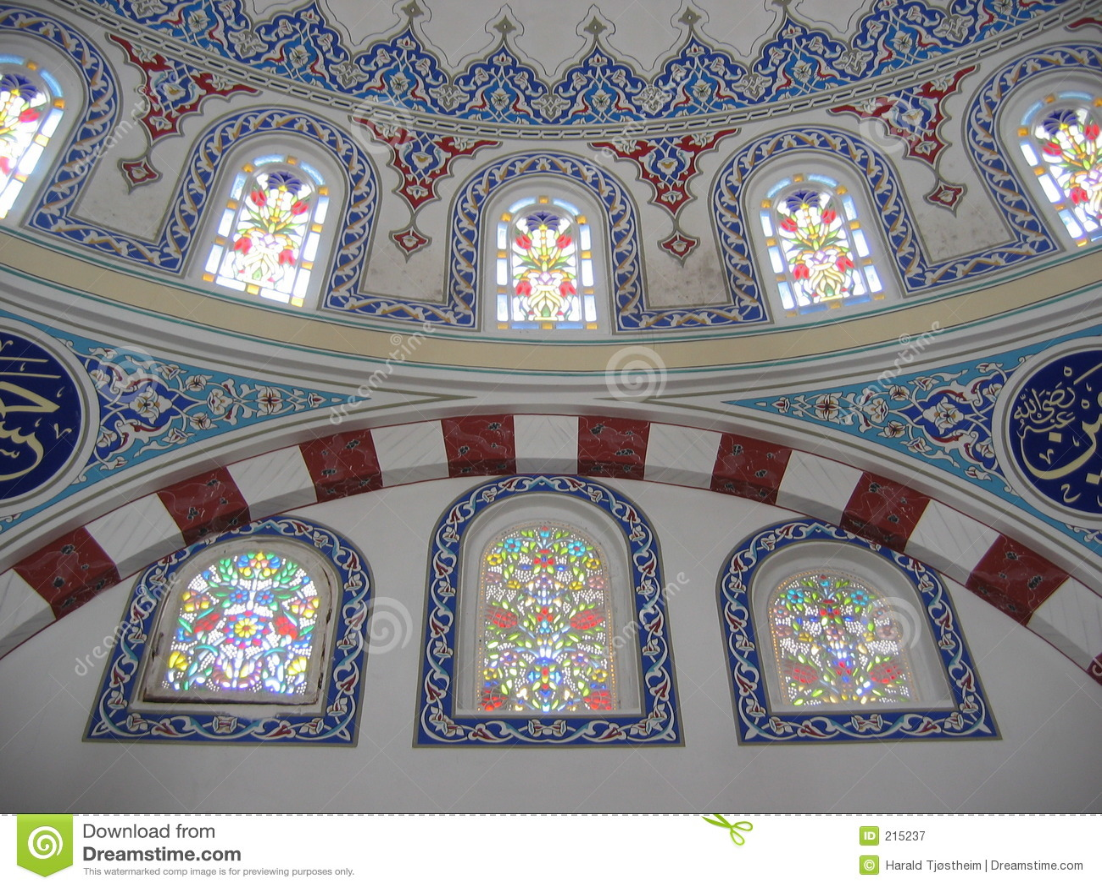 Decoratie Op Muren Binnen Een Moskee Royalty-vrije Stock ...