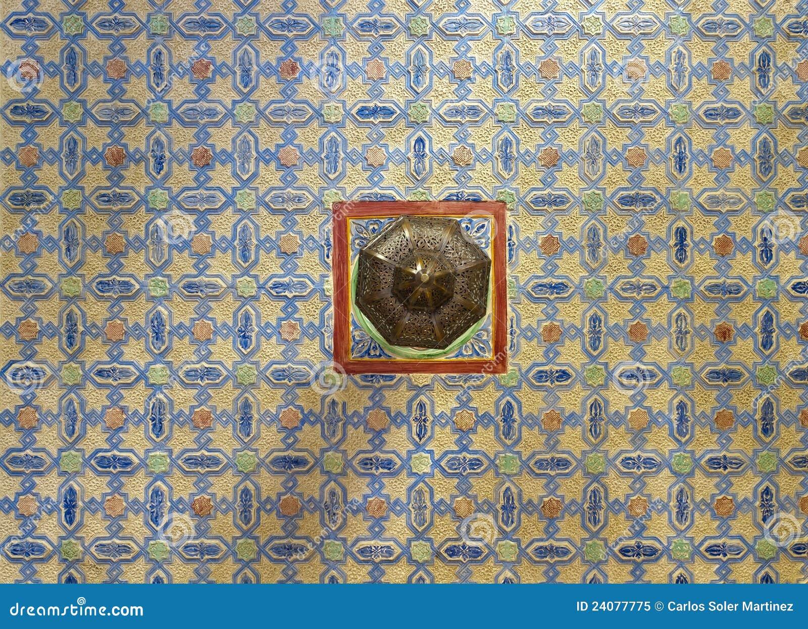 Decoratie van een plafond arabische stijl stock afbeelding afbeelding 24077775 - Decoratie van een terras ...