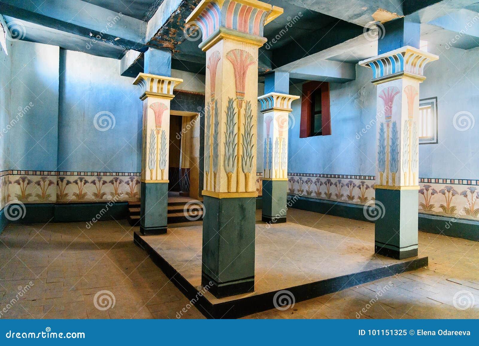 Decoratie van egyptisch huis in de studio s van het atlasbedrijf