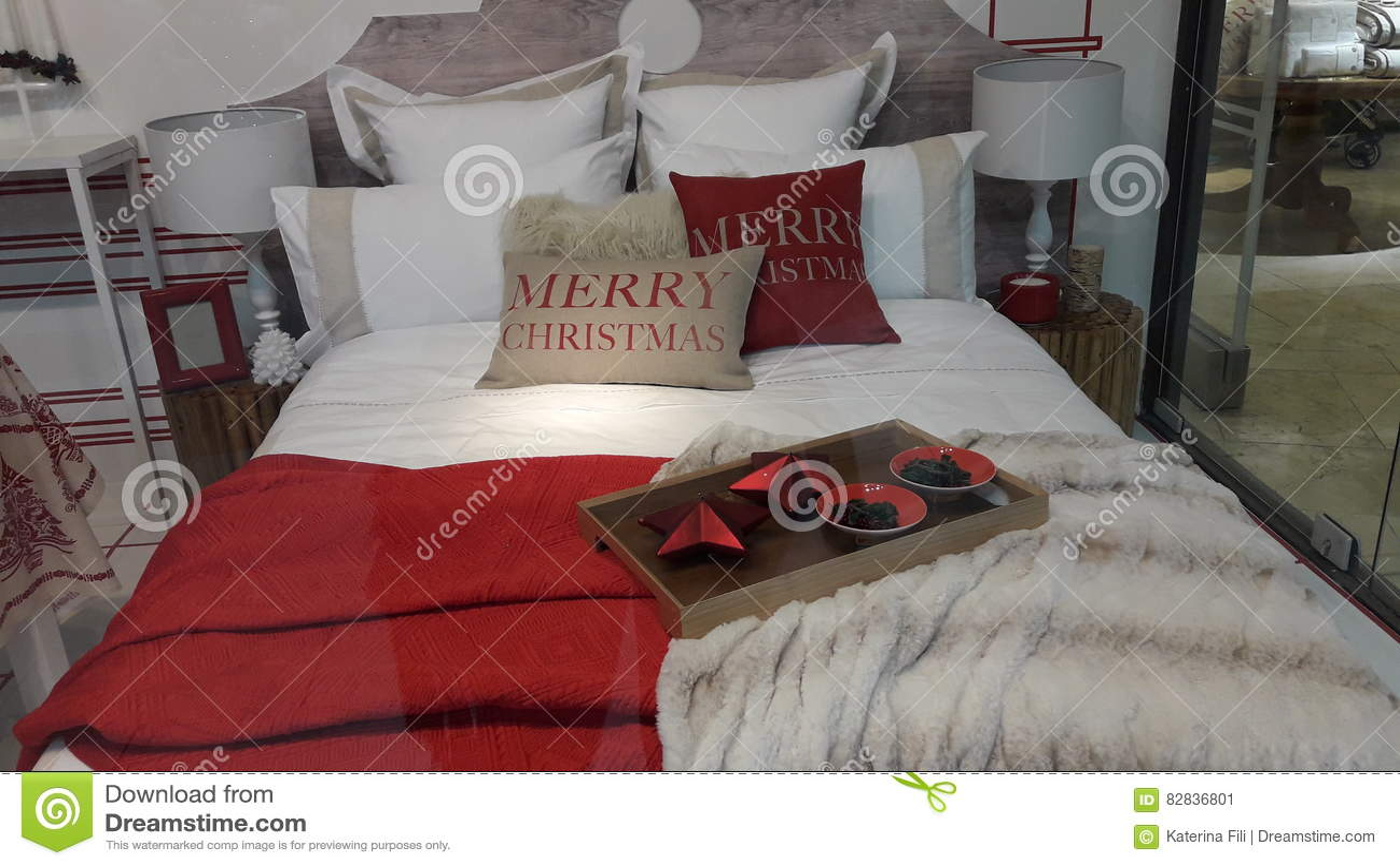 Decoratie van slaapkamer komt de creatieve kerstmis dichte