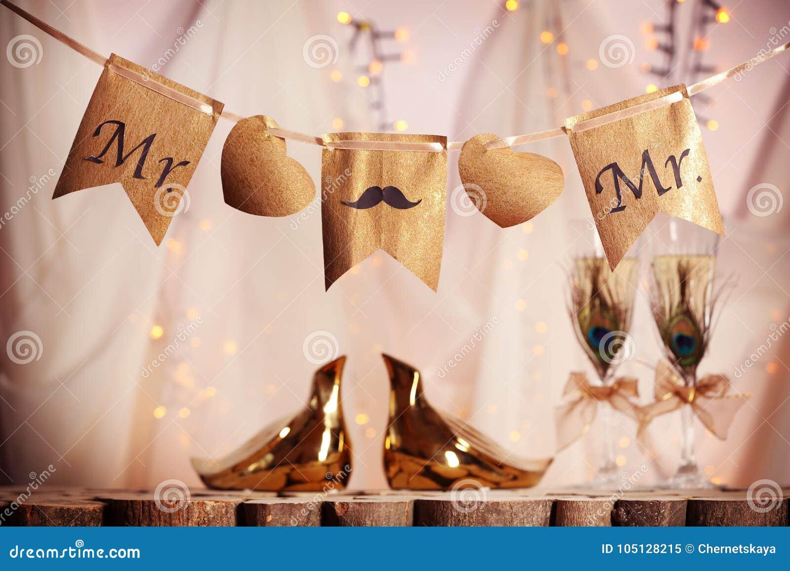 Decoratie voor vrolijk huwelijk