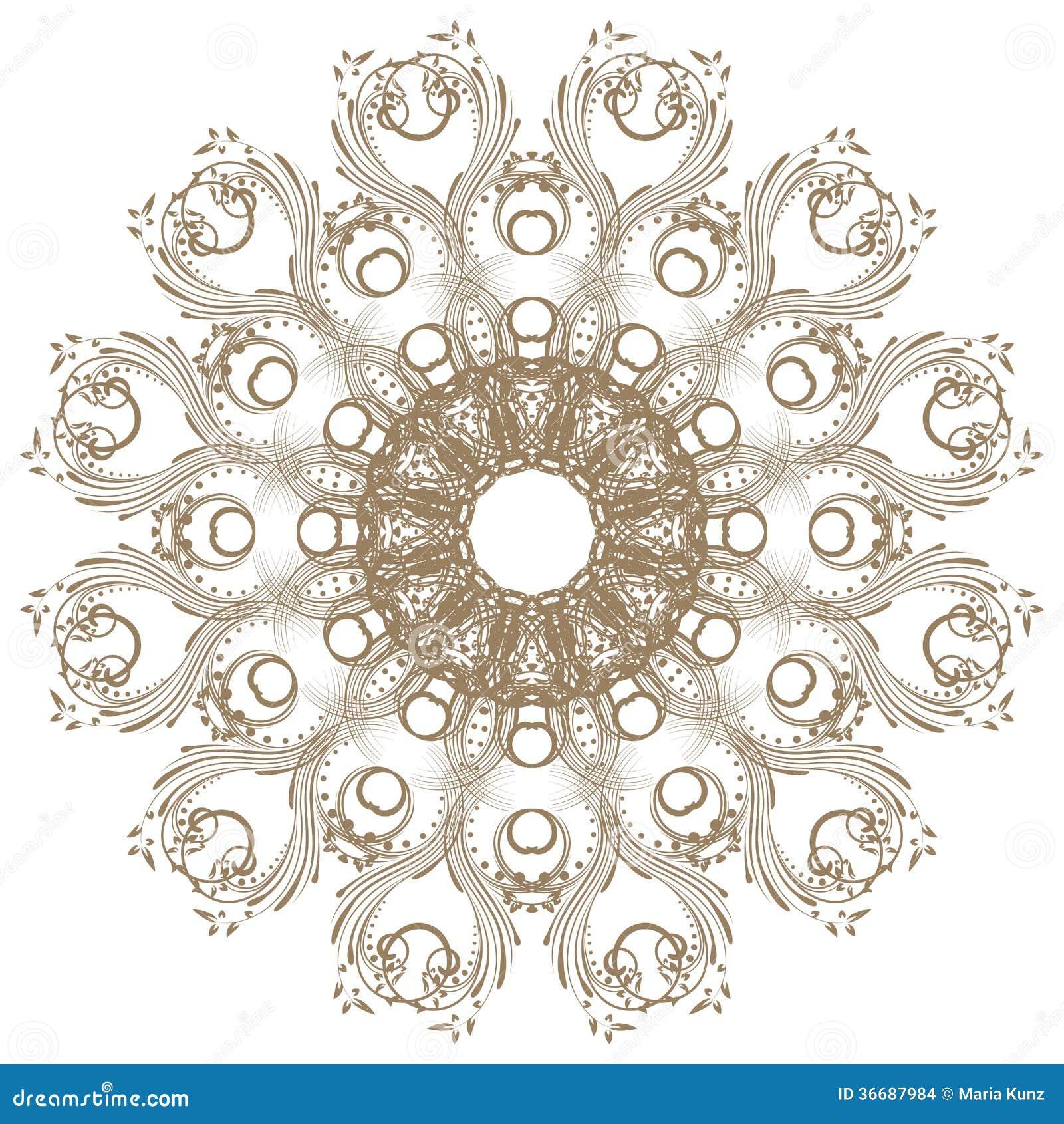 Decoratief gouden kader