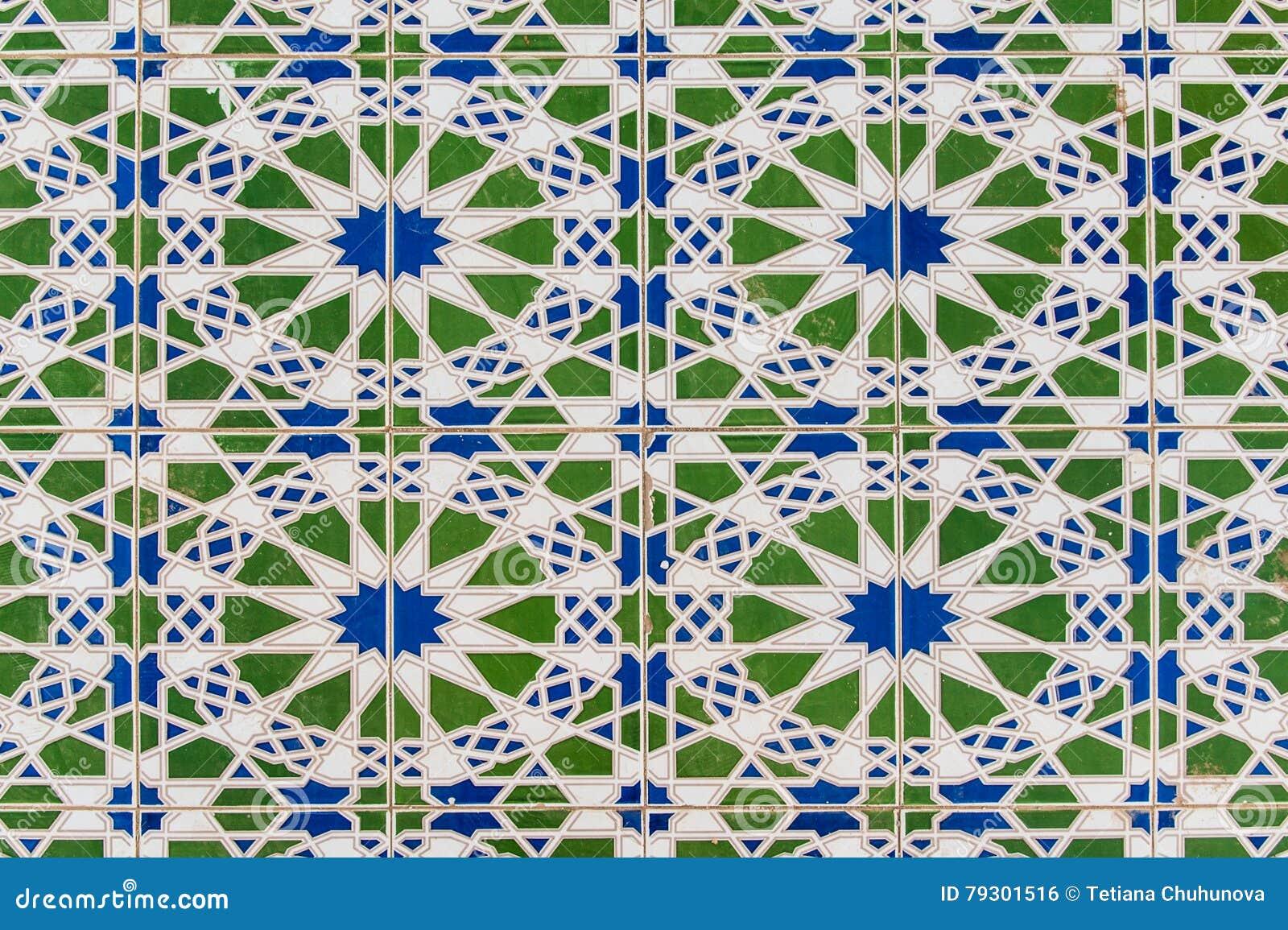 Tegels Met Patroon : Decoratief patroon van tegels in marokkaanse stijl stock foto
