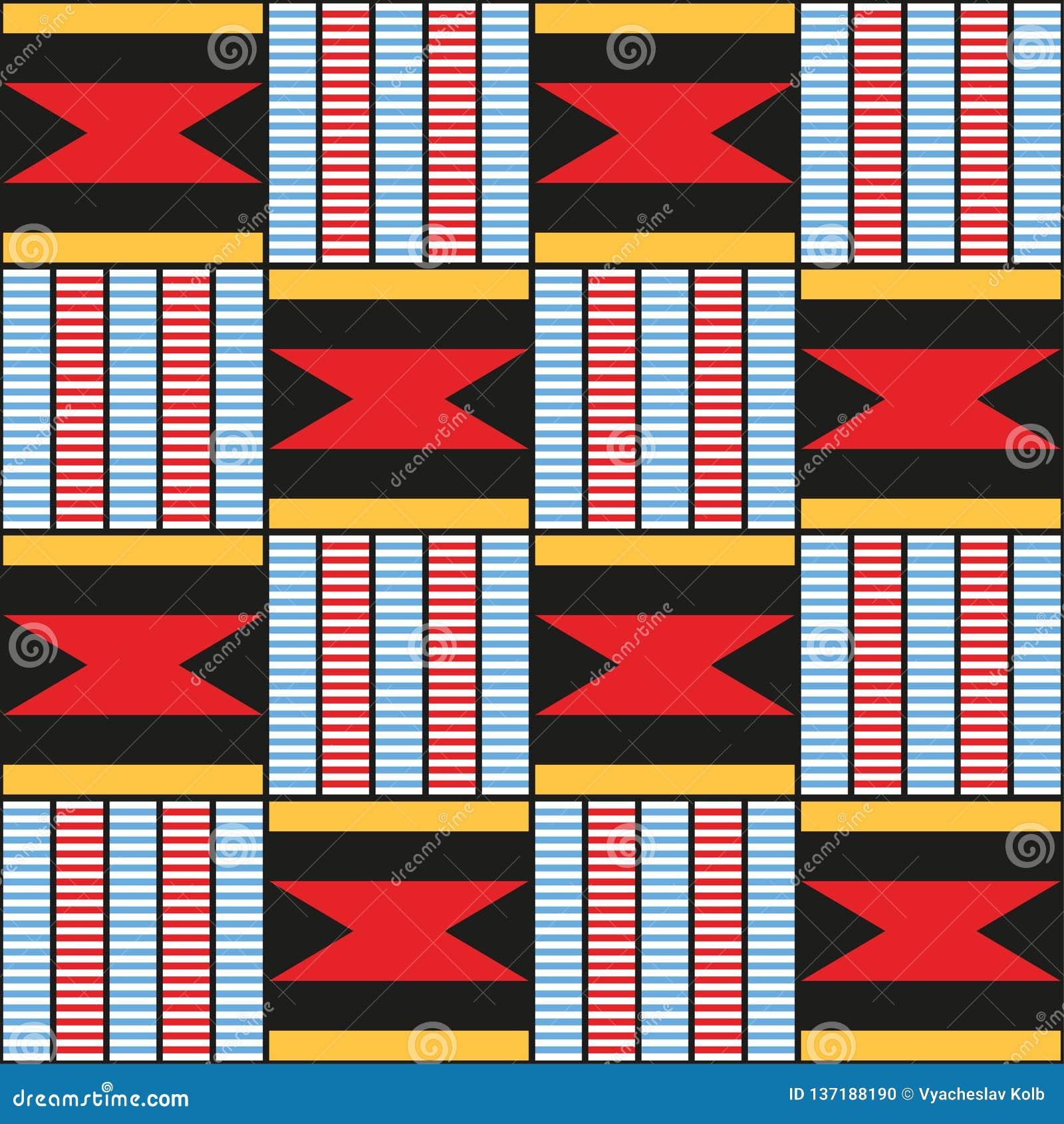 Decoratief patroon voor de achtergrond, de tegel en de textiel afrikaans