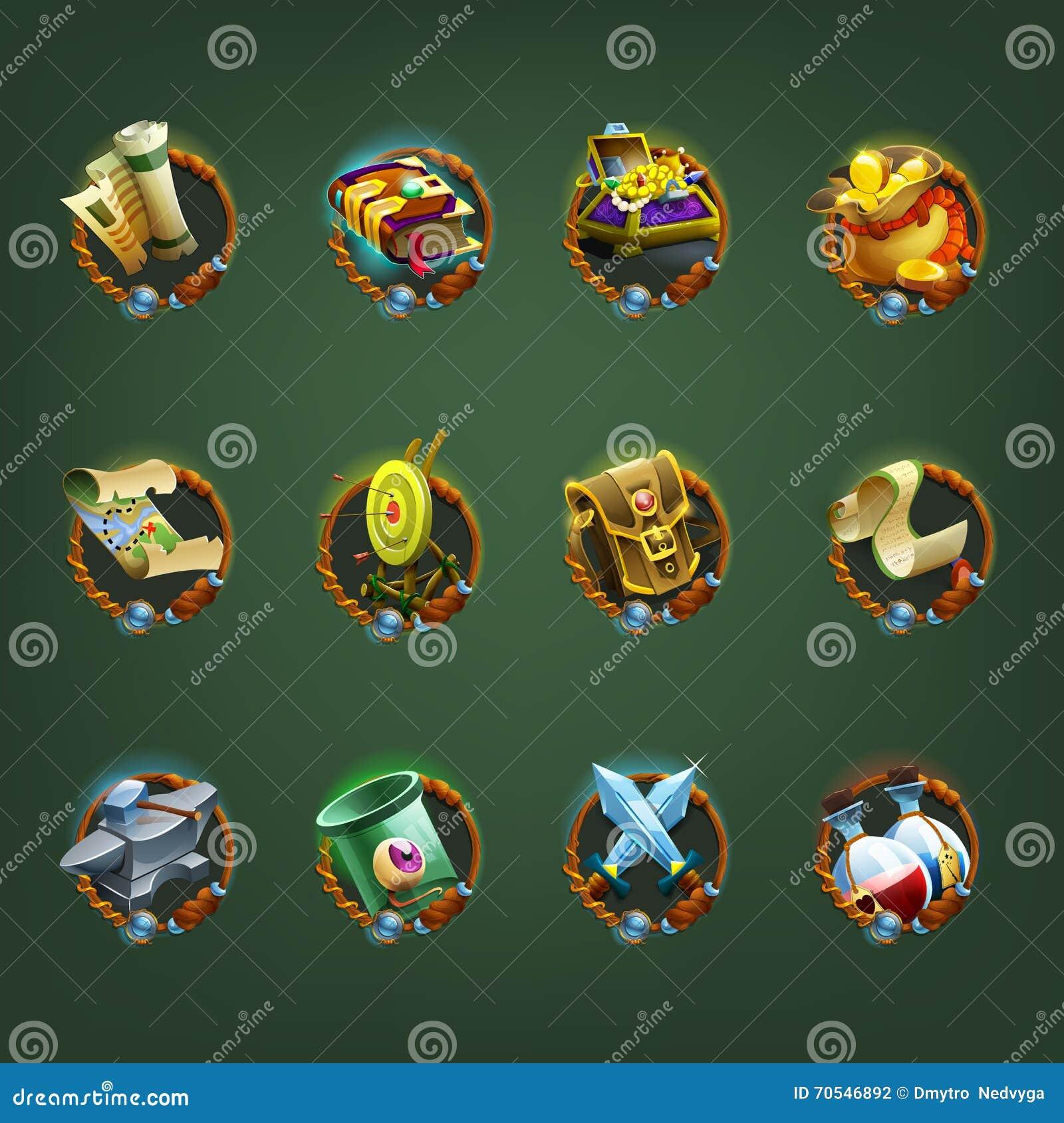 Decoratiepictogrammen voor spelen