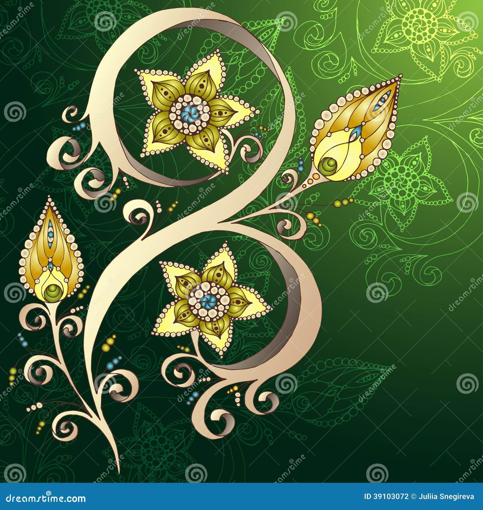 Decoratieve bloemenachtergrond met bloemen