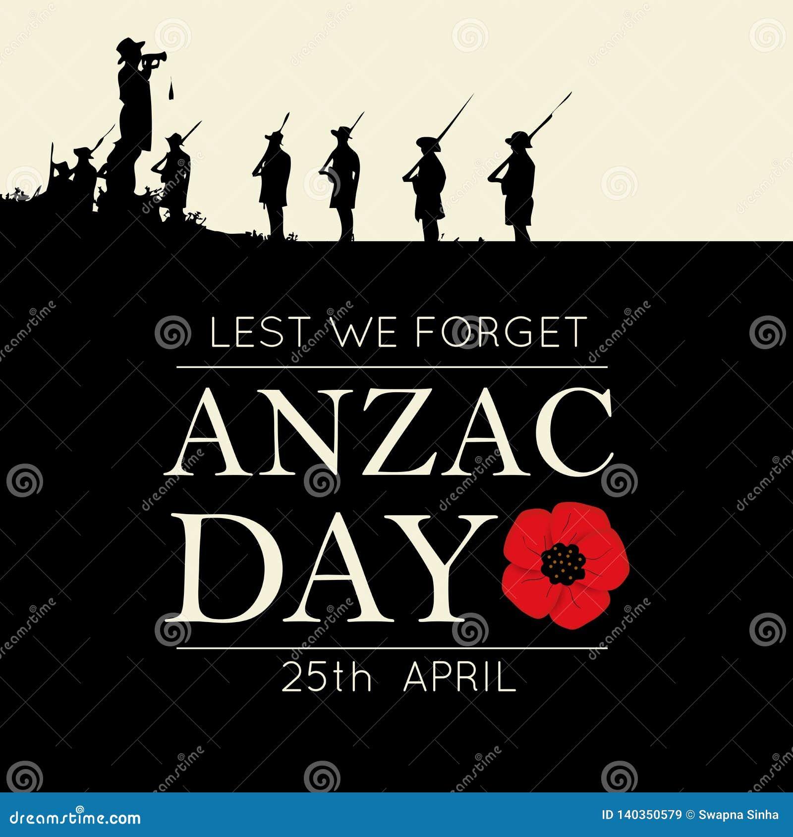 Decoratieve document papaver voor Anzac Day