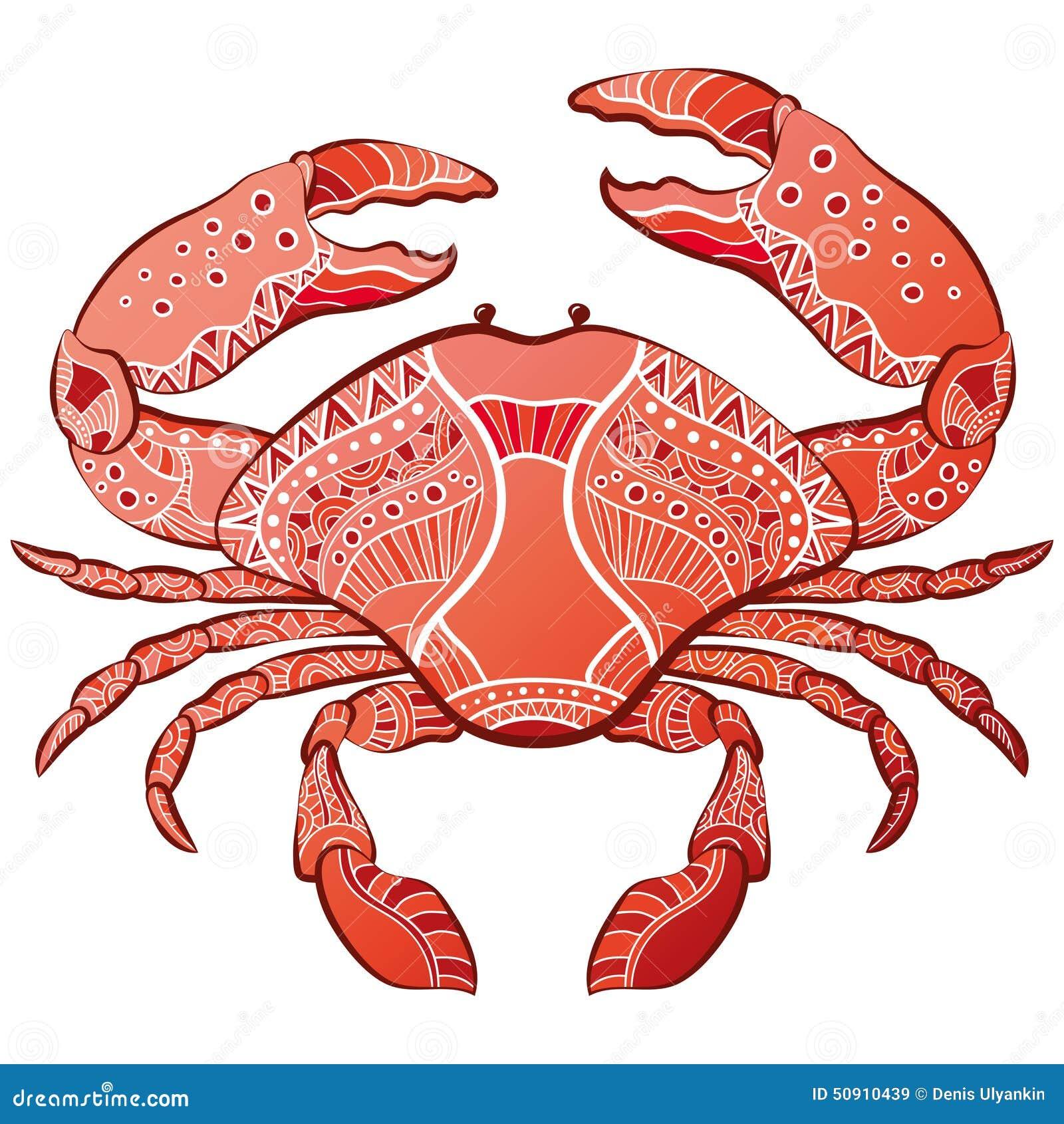 Decoratieve geïsoleerde krab