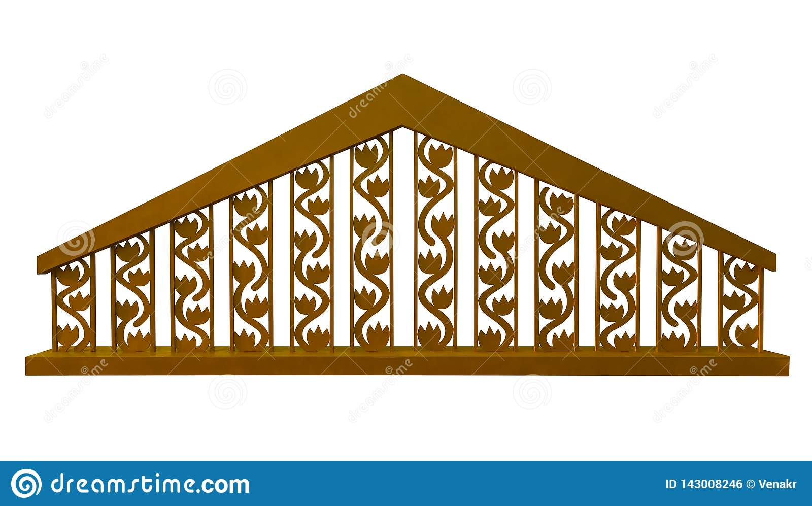 Decoratieve gouden omheining -