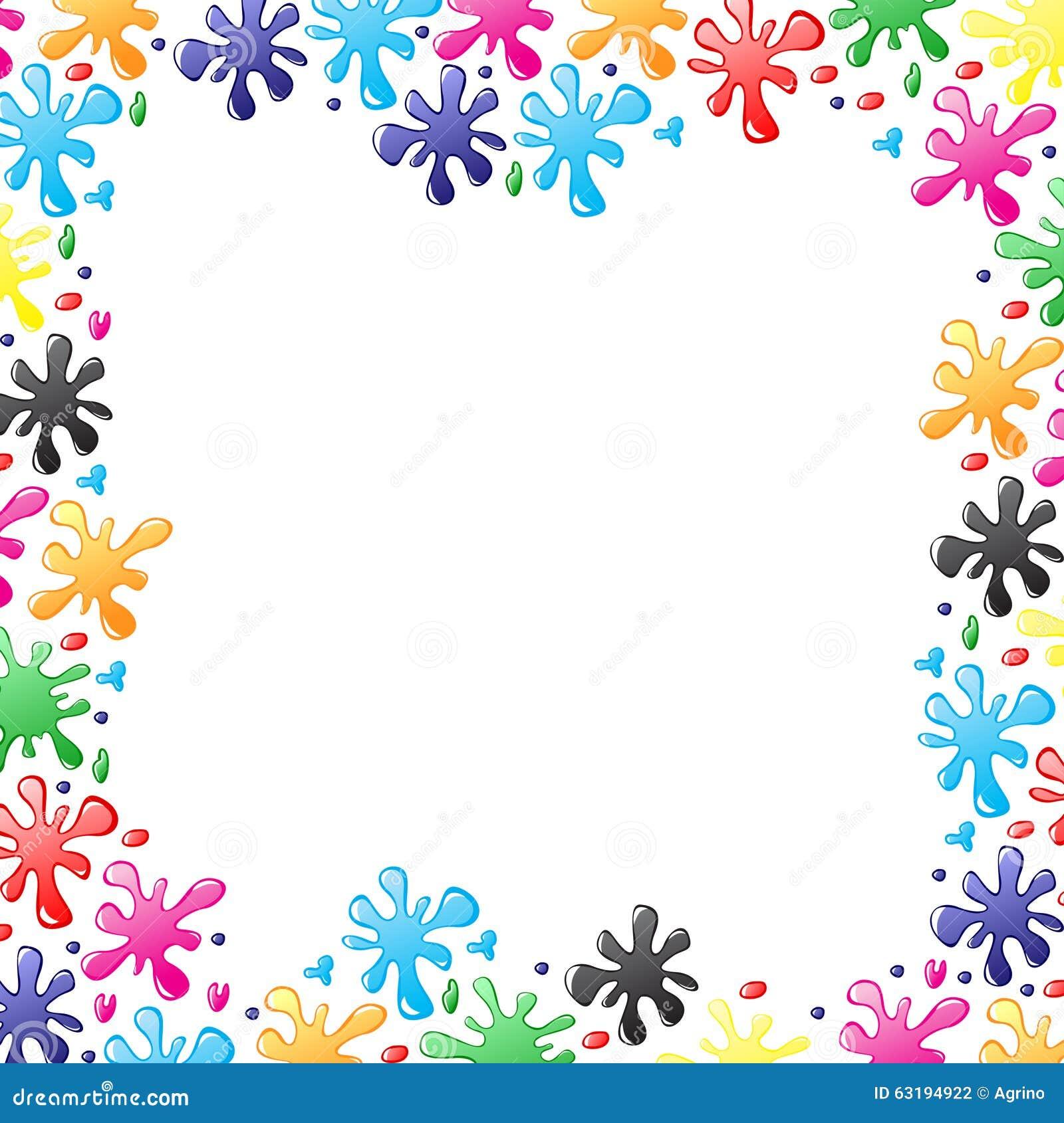 Decoratieve grens van vervendalingen en vlekken vector illustratie afbeelding 63194922 - Grafiek blauw grijze verf ...