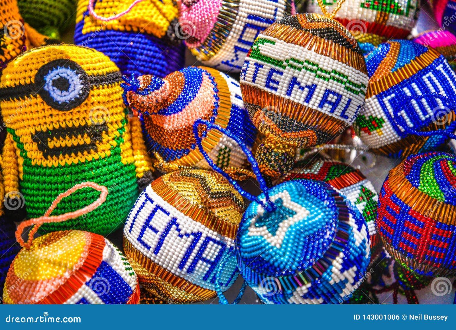 Decoratieve herinneringenvertoning, Puerto-Quetzal, Guatemala, Midden-Amerika
