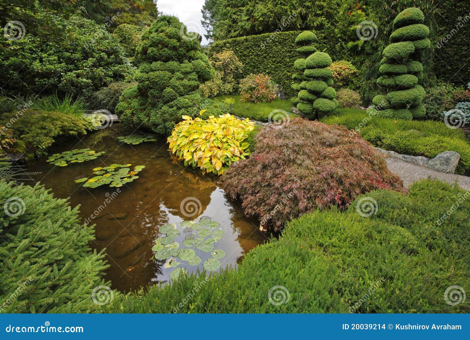 decoratieve japanse tuin stock afbeeldingen afbeelding 20039214