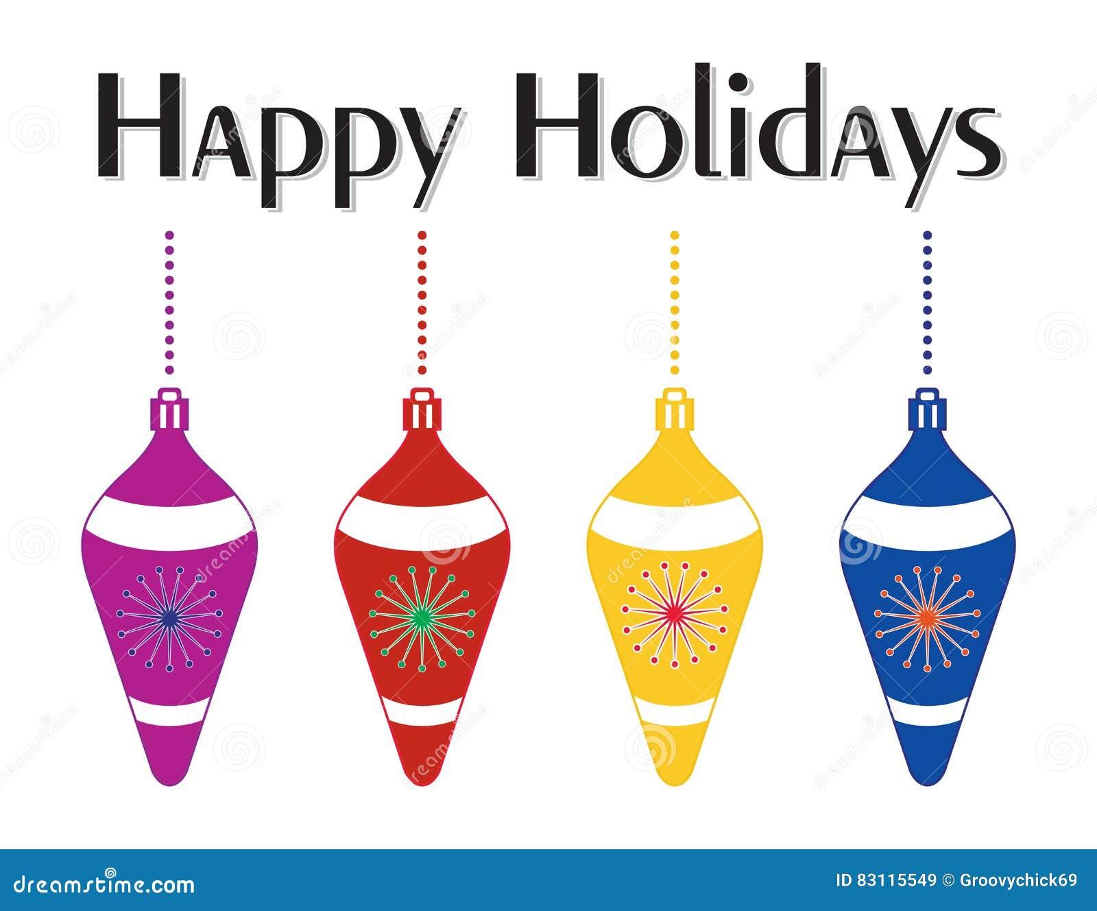 Decoratieve Kleurrijke Kerstboomornamenten