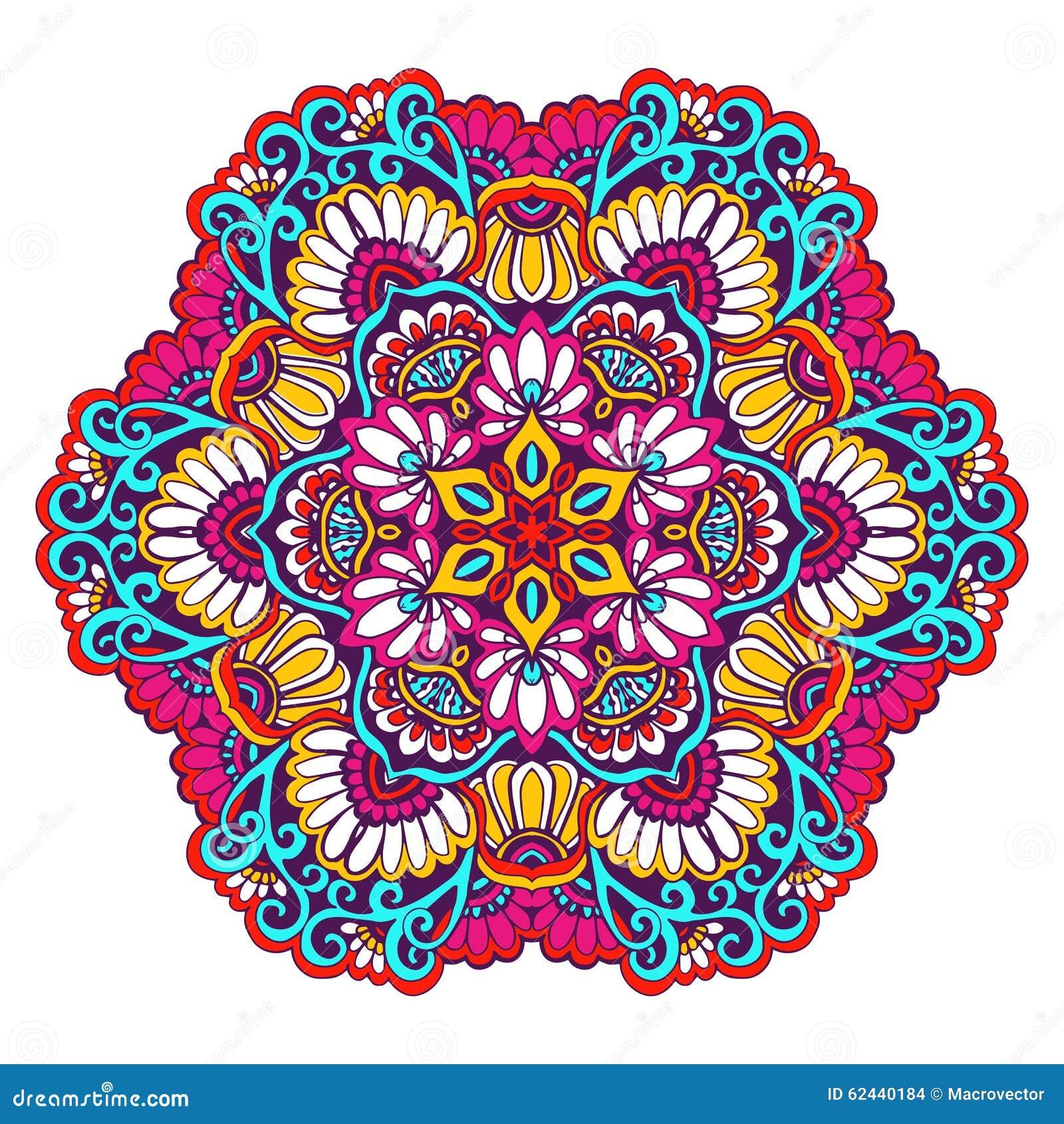 Decoratieve Mandala Color Vector Illustratie Illustratie Bestaande