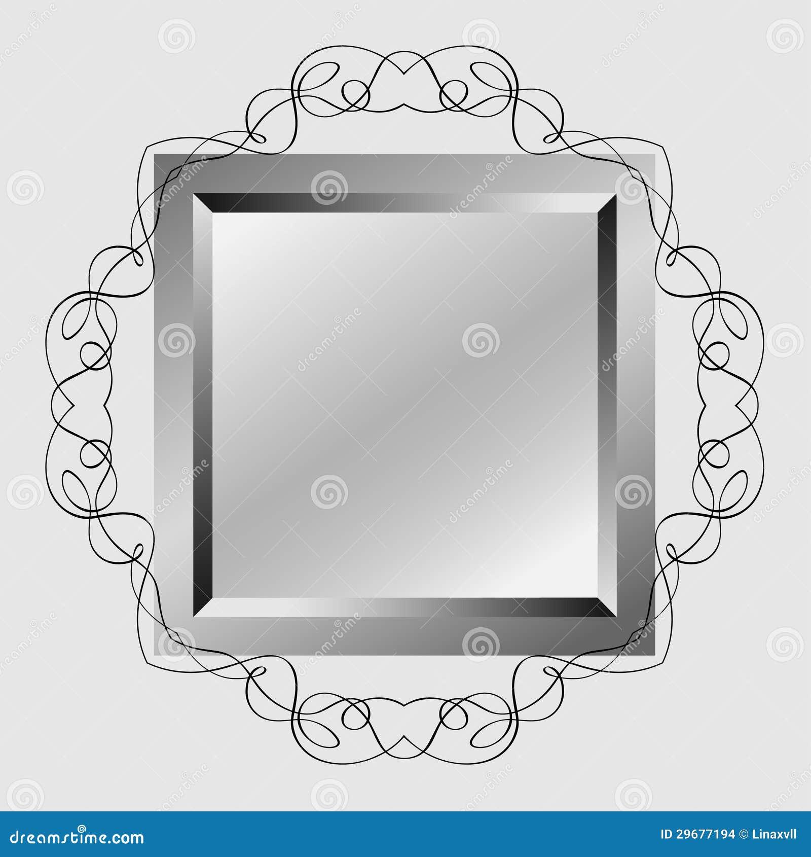 Decoratieve spiegel vector illustratie afbeelding bestaande uit achtergrond 29677194 - Decoratieve spiegel plakken ...