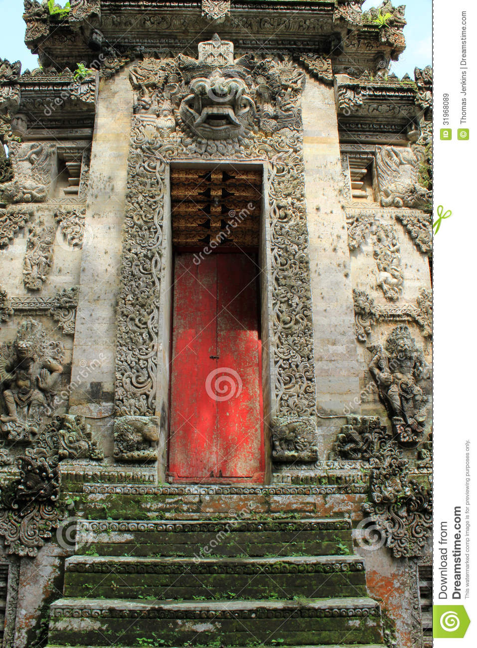 Decoratieve steeningang van pura kehen temple in bali royalty vrije stock afbeeldingen for Decor ingang