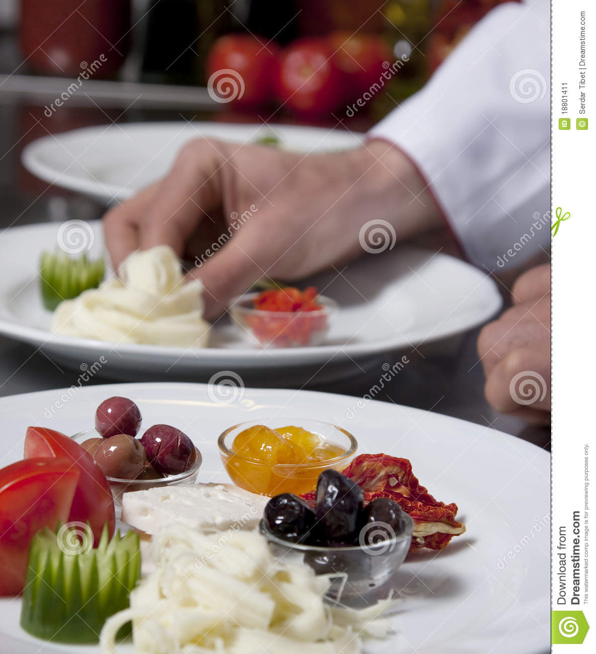 Decorating appetizer stock image image 18801411 for Appetizer decoration