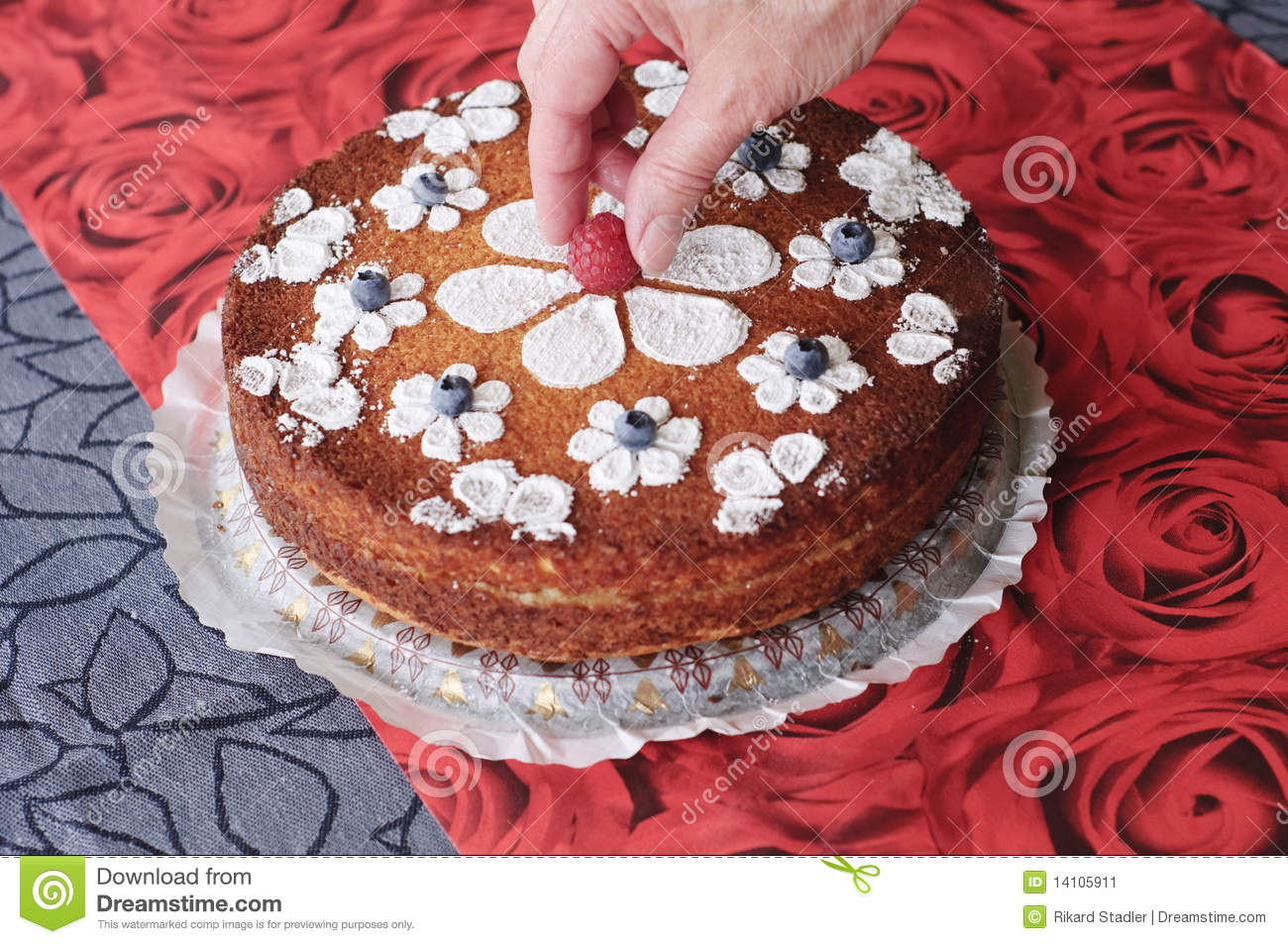 Cake Decorating Stock Images : Decorating The Cake Stock Image - Image: 14105911